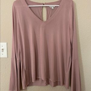 Lucky Brand Pink V-neck Blouse